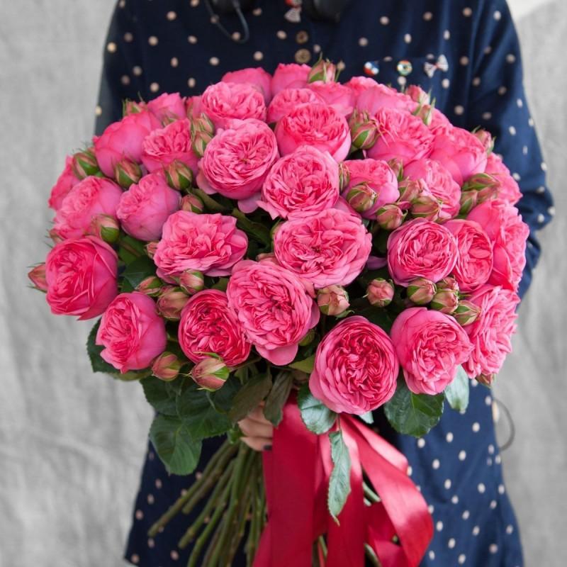 Букет из пионовидных роз  (15,25,51шт.)